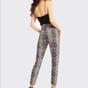 Alice + Olivia, Good high rise snake skin jeans